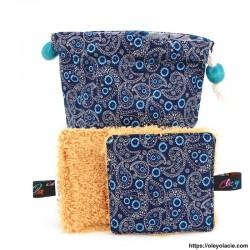 Lingettes lavables nomades ☀️ motif cachemire