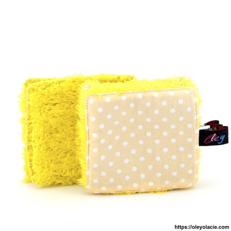 Lingettes lavables à l'unité ☀️ motif pois - Oley Ola cie ®