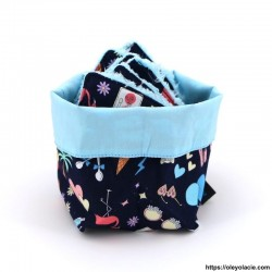 Lingettes forme goutte d'eau et sa box ☀️ motif printanier - Oley Ola cie ®