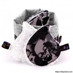 Lingettes forme goutte d'eau et sa box ☀️ motif skull