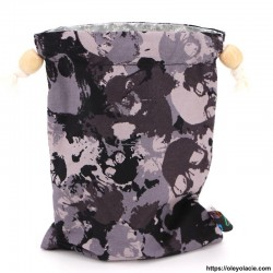 Lingettes forme goutte d'eau nomades ☀️ motif skull - Oley Ola cie ®