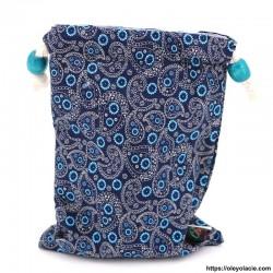 Lingettes forme goutte d'eau nomades ☀️ motif cachemire - Oley Ola cie ®