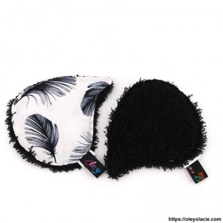 Lingettes lavables à l'unité ☀️ motif plumes - Oley Ola cie ®