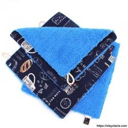 Essuie-tout lavable pack de 3 motif parisien