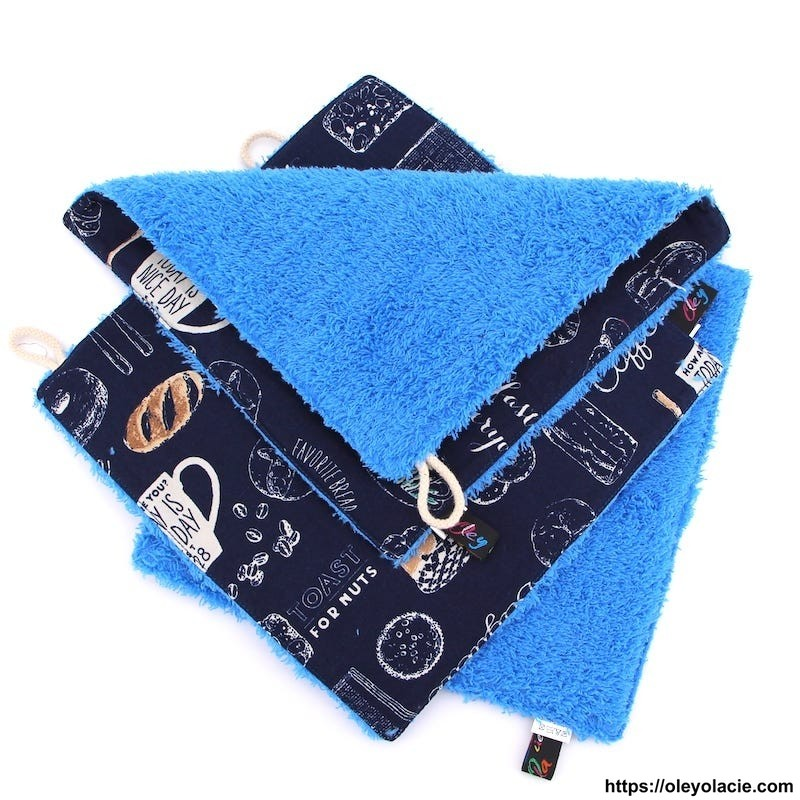 Essuie-tout lavable pack de 3 motif parisien - Oley Ola cie ®