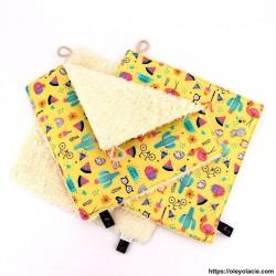 Essuie-tout lavable pack de 3 motif printanier