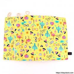 Essuie-tout lavable pack de 3 motif printanier - Oley Ola cie ®