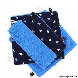 Essuie-tout lavable pack de 3 motif marin