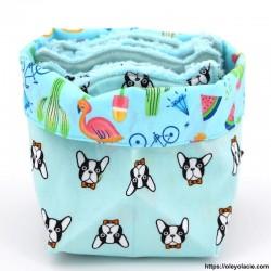 Lingettes lavables et sa box originale ☀️ motif animaux