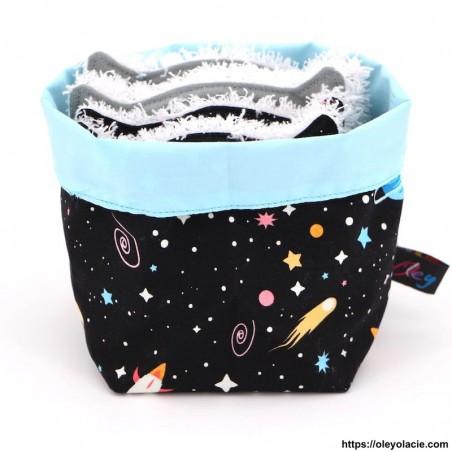 Lingettes lavables et sa box originale ☀️ motif galaxie - Oley Ola cie ®