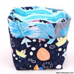 Lingettes lavables et sa box originale ☀️ motif voyage