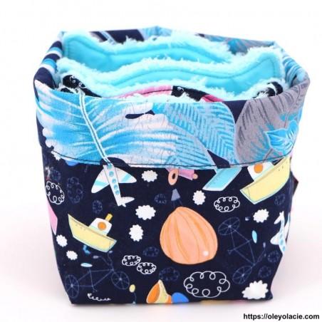 Lingettes lavables et sa box originale ☀️ motif voyage - Oley Ola cie ®