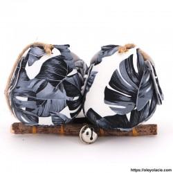 Couple 2 hiboux taille M coloris noir - Oley Ola cie ®