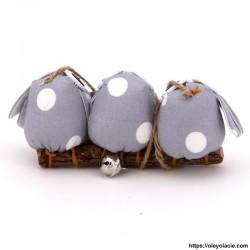 3 hiboux taille S coloris gris - Oley Ola cie ®