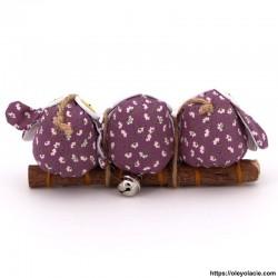 3 hiboux taille S coloris violet - Oley Ola cie ®