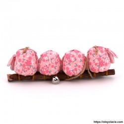 4 hiboux taille S coloris rose - Oley Ola cie ®