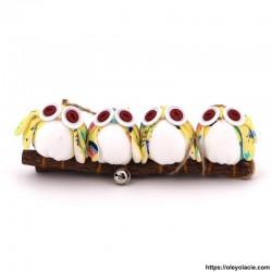 4 hiboux taille S coloris jaune - Oley Ola cie ®