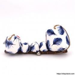 Famille 5 hiboux LSSSM coloris bleu - Oley Ola cie ®