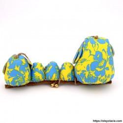 Famille 5 hiboux LSSSM coloris jaune - Oley Ola cie ®
