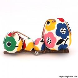 Famille 4 Hiboux LSSM multicolores - Oley Ola cie ®