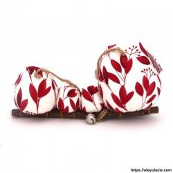 Famille 4 Hiboux LSSM coloris rouge - Oley Ola cie ®