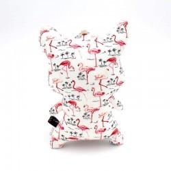 Peluche chat blanc et rose - 2