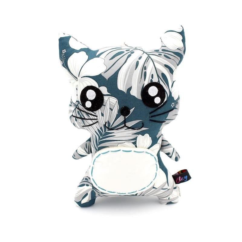 Peluche chat vert - 1