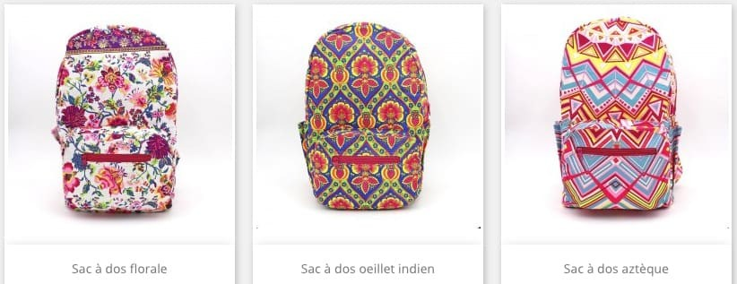 La collection de sac à dos