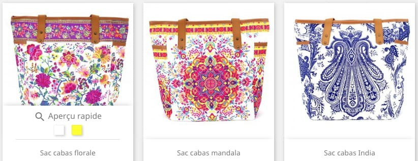 La collection de sacs cabas